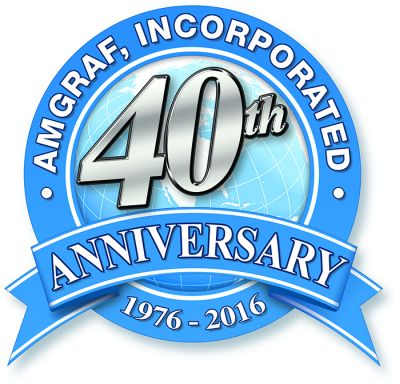 2016 was the 40th Anniversary of Amgraf. The company was founded in 1976.