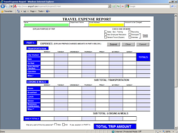 Open a Blank Electronic Expense Report Form
