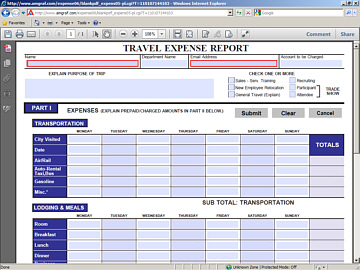 Open a Blank PDF Electronic Expense Report Form